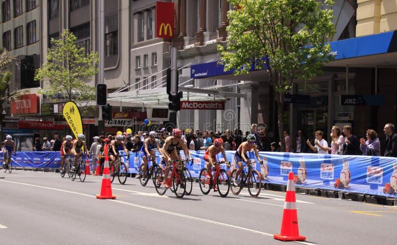 Finales magníficos 2012 del Triathlon del mundo del ITU fotos de archivo libres de regalías