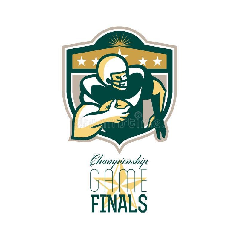Finales QB del partido del campeonato del fútbol americano stock de ilustración