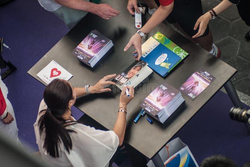 Finales Singapour de WTA Li Na Autograph Session 2014 photo stock