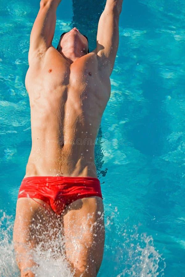 Finali di nuotata fotografia stock