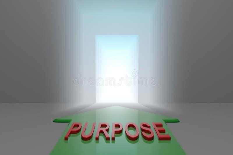 Finalidade à porta aberta ilustração do vetor