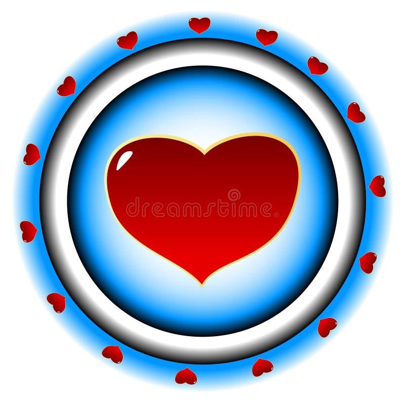 A finalidade com coração ilustração do vetor