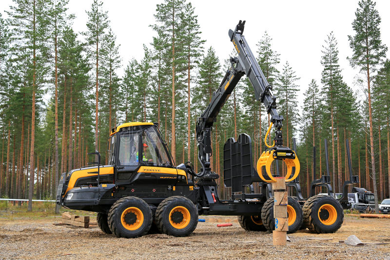 Finalist in Forest Machine Operator Competition royalty free stock image
