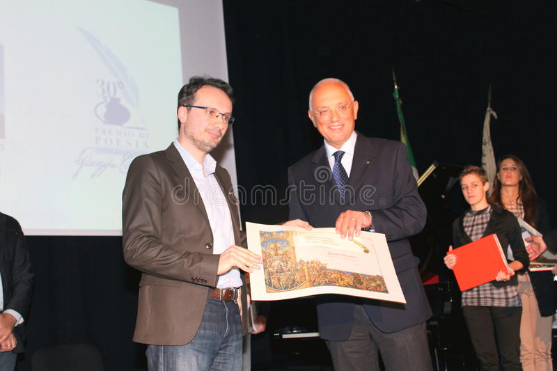 Finalists 30 ποίηση Tirinnanzi Legnano Ιταλία στοκ φωτογραφία