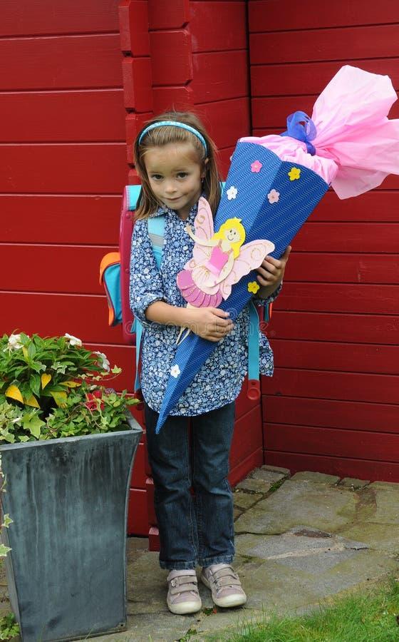 Finally a schoolgirl stock photo