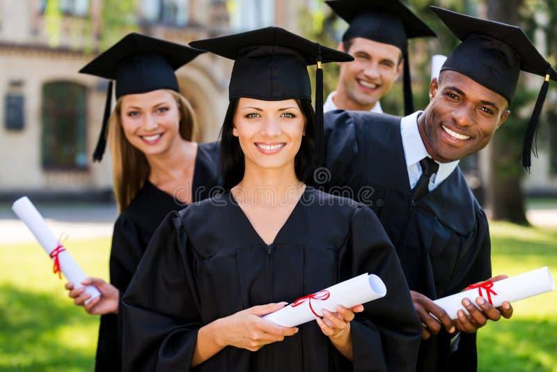 Finalmente graduado! imagens de stock royalty free