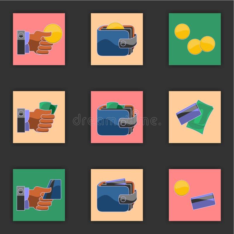 Finança. ícones. imagem de stock