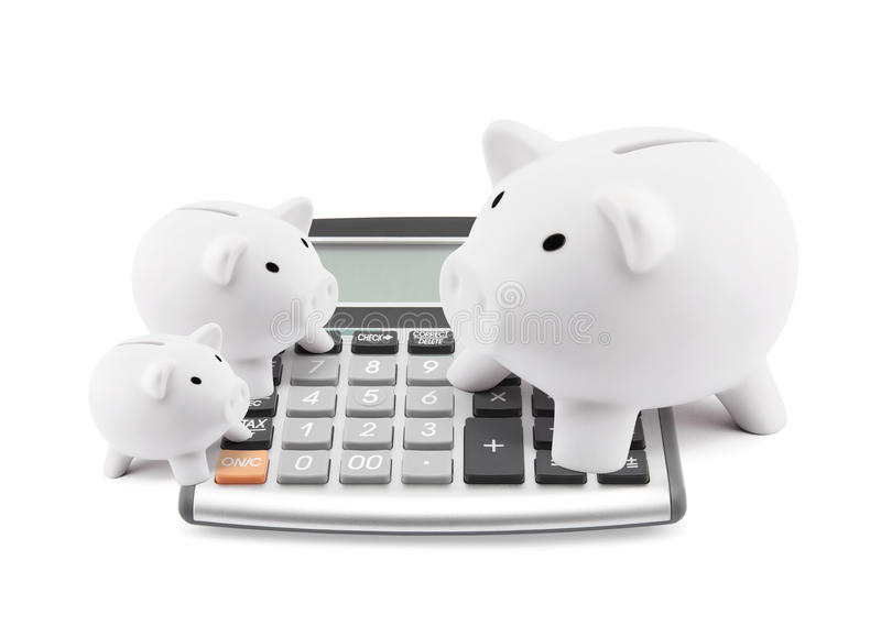 Finança calculadora fotos de stock royalty free