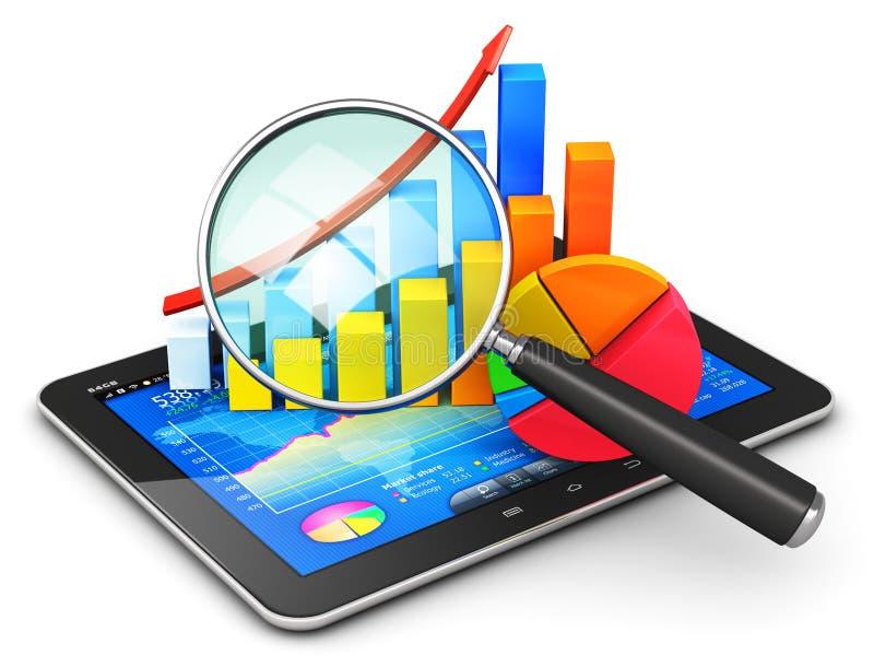 Finança do negócio, contabilidade e conceito das estatísticas ilustração do vetor
