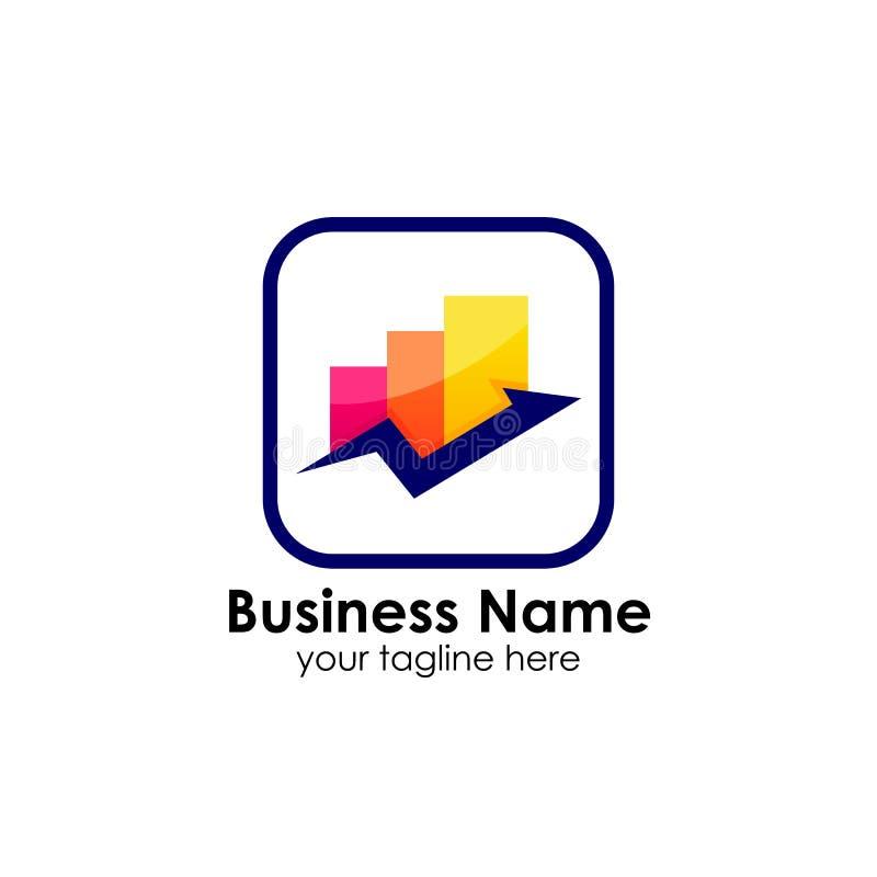 Finança do negócio e molde do projeto do logotipo do mercado ilustração royalty free