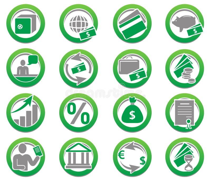Finança e coleção dos ícones do banco ilustração do vetor