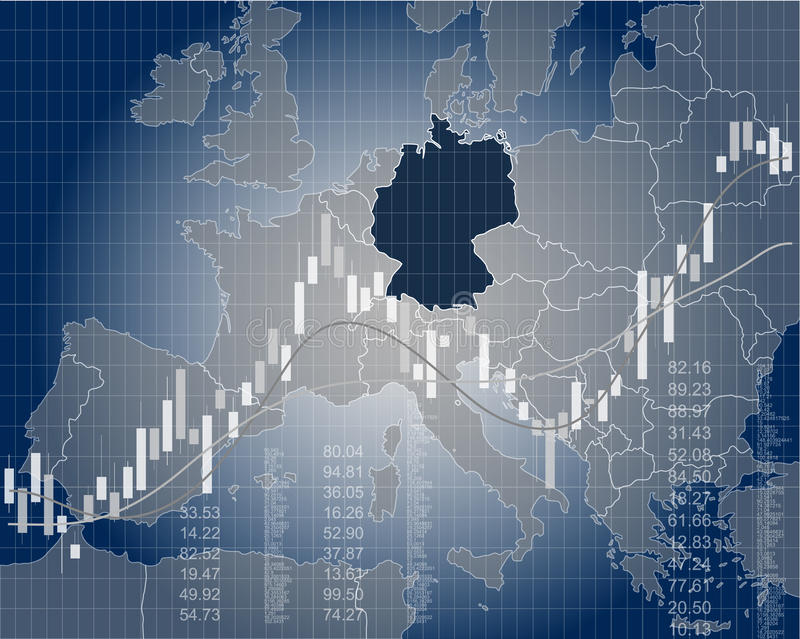 Finança e economia de Alemanha ilustração do vetor