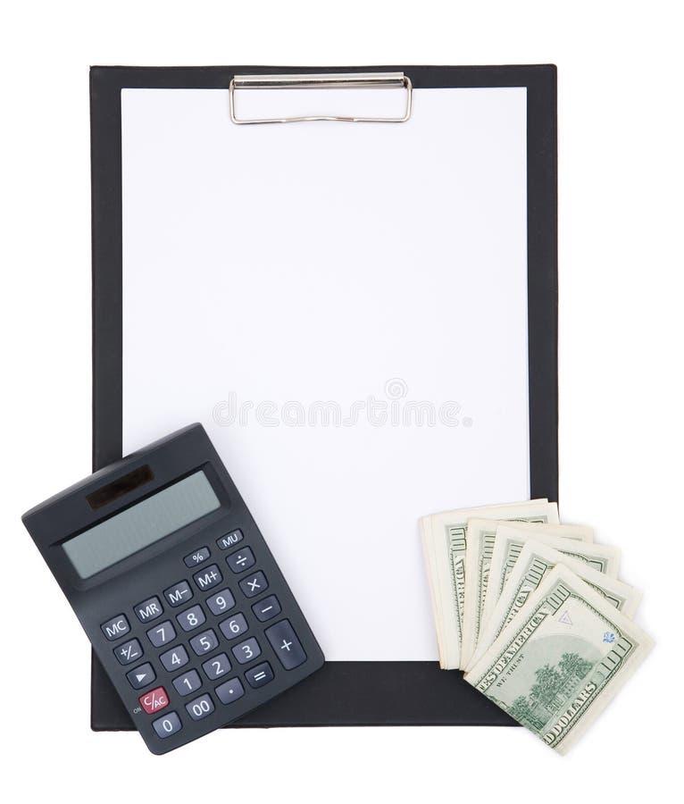 Finança e prancheta fotografia de stock