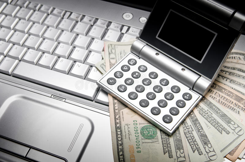 Finança em linha da operação bancária imagens de stock royalty free