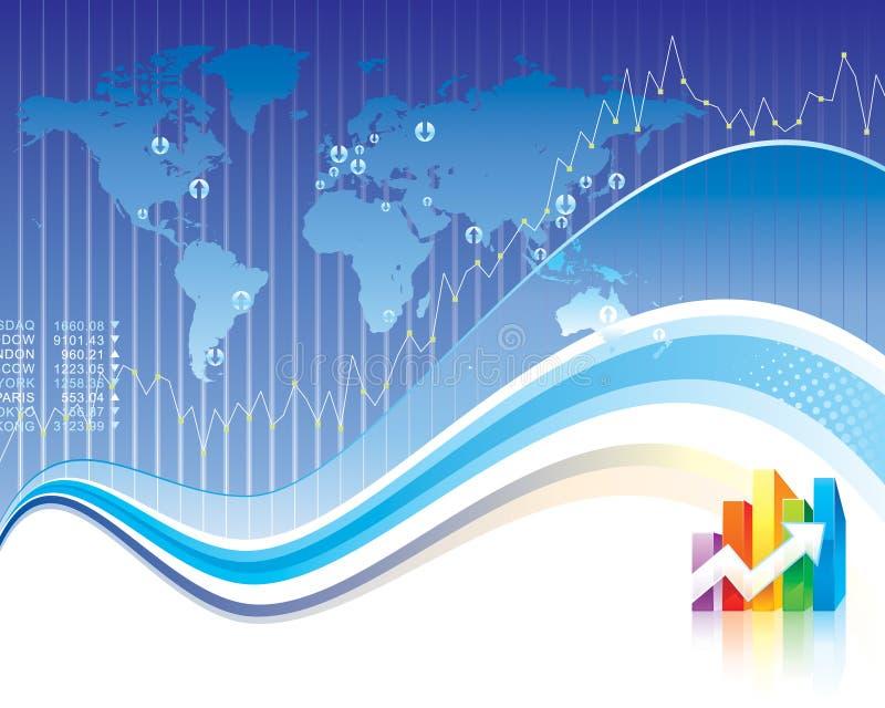 Finança global ilustração royalty free