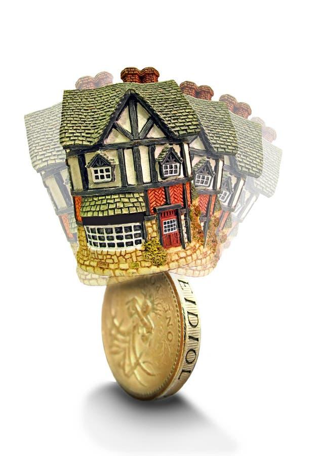 Finança instável das hipotecas dos mercados imagem de stock royalty free