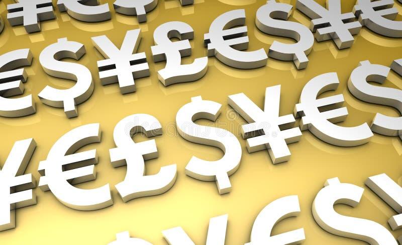 Finança internacional ilustração do vetor
