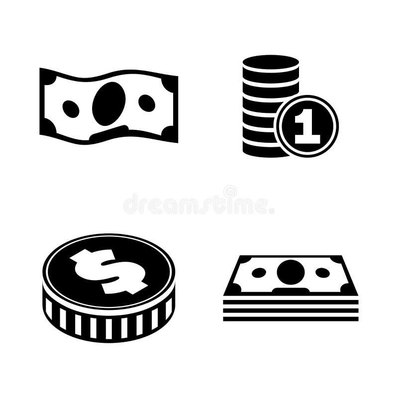 finanças Ícones relacionados simples do vetor ilustração royalty free