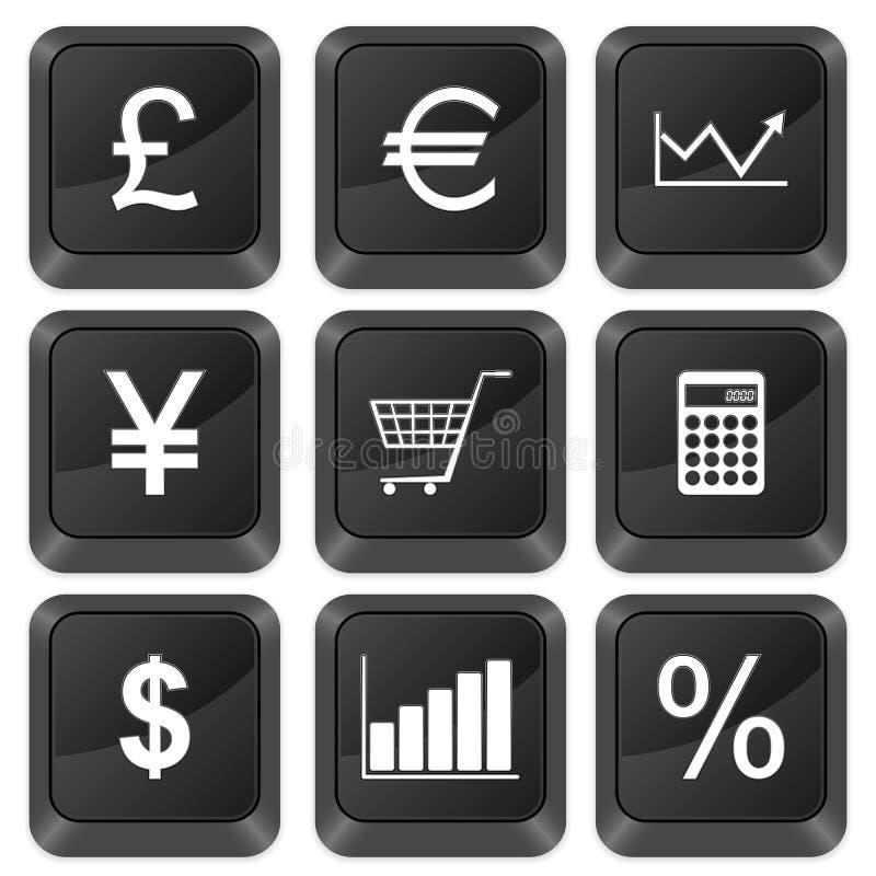 Finanças das teclas do computador ilustração stock
