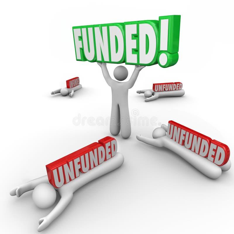 Financé contre l'investissement de capitaux augmentant sans couverture meilleur commencez Entr illustration libre de droits