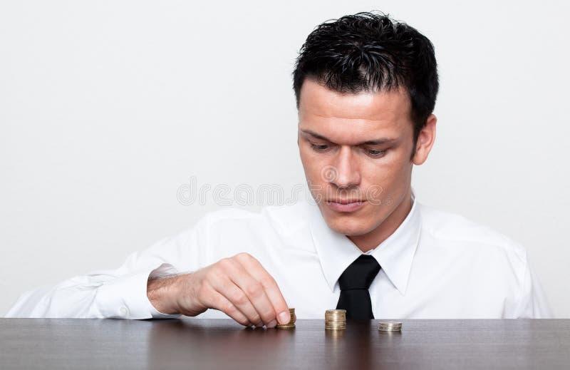 Financal Geschäft neugierig lizenzfreies stockbild