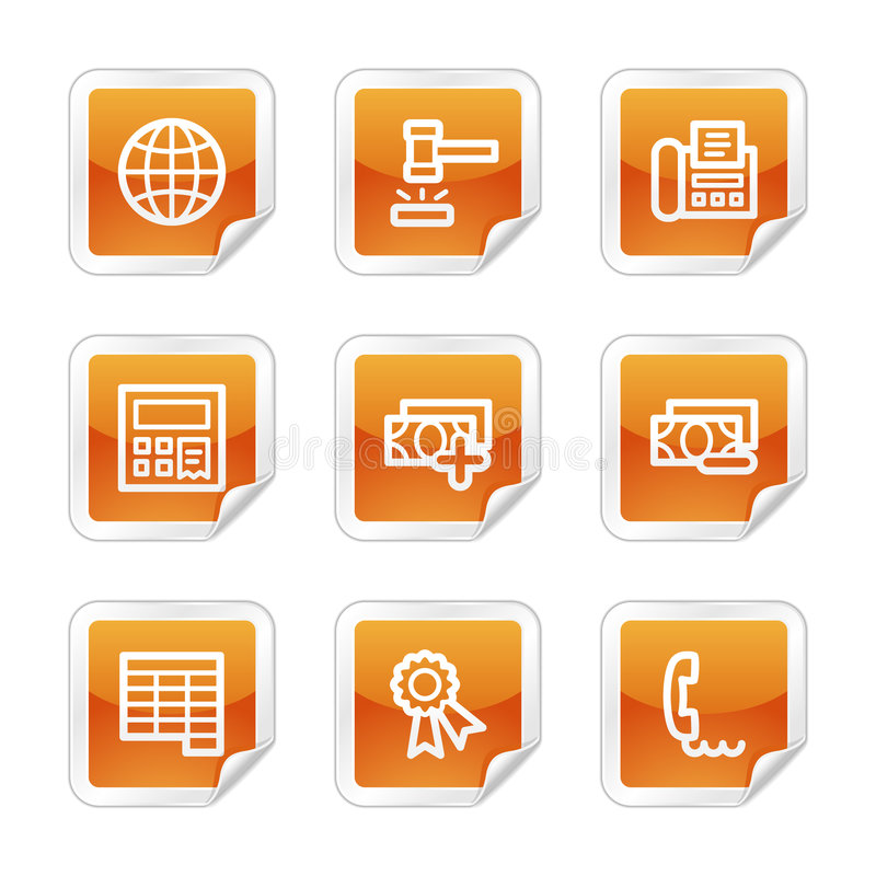 Finance 2 web icons vector illustration
