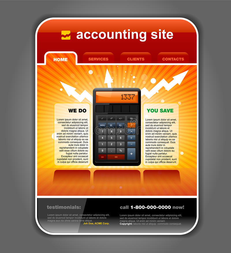 Download Finance Accounting Web Site Template Vector Stock Vector - Illustration: 20947086