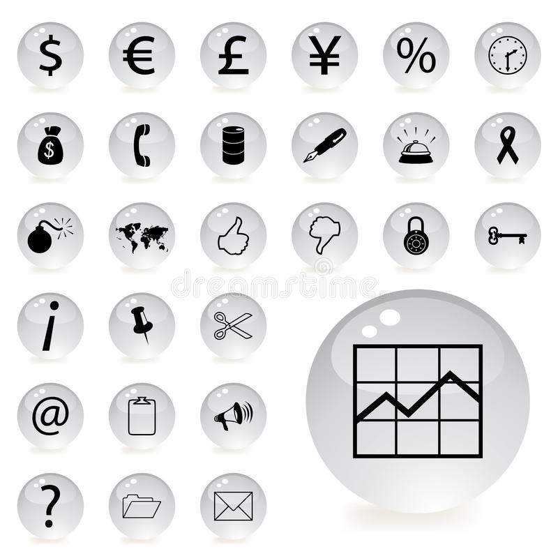 Download Finance and banking icons stock vector. Image of briefcase - 15525227