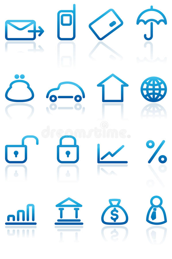 Download Finance And Banking Icons Set Stock Vector - Image: 13189690