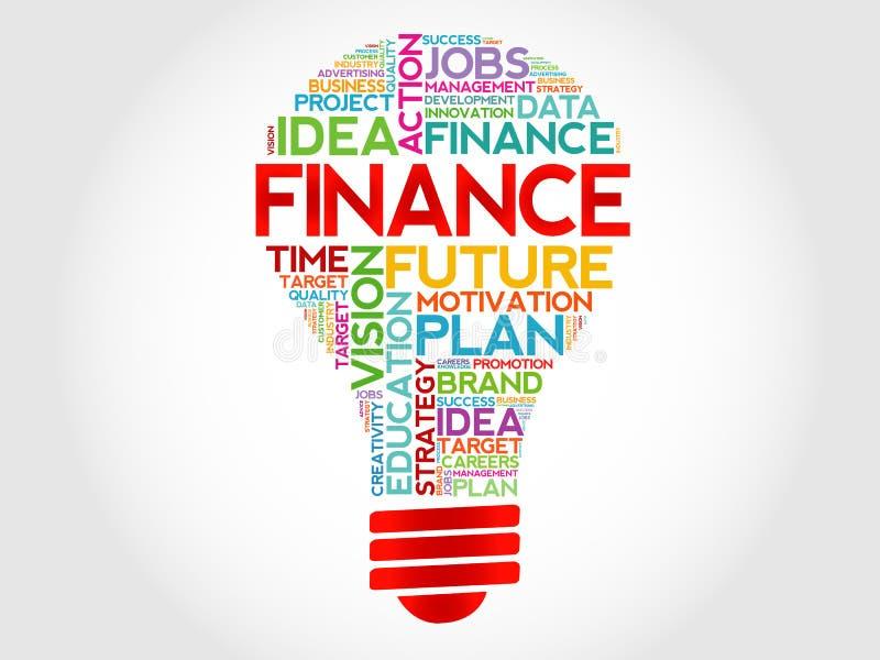 FINANCE bulb vector illustration