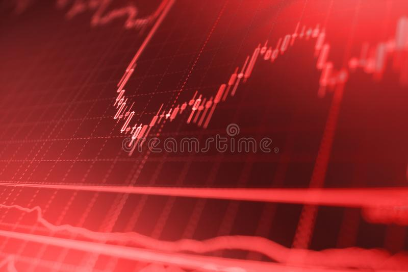 Finance business data concept. Big data on LED panel. Currency trading theme. stock photos