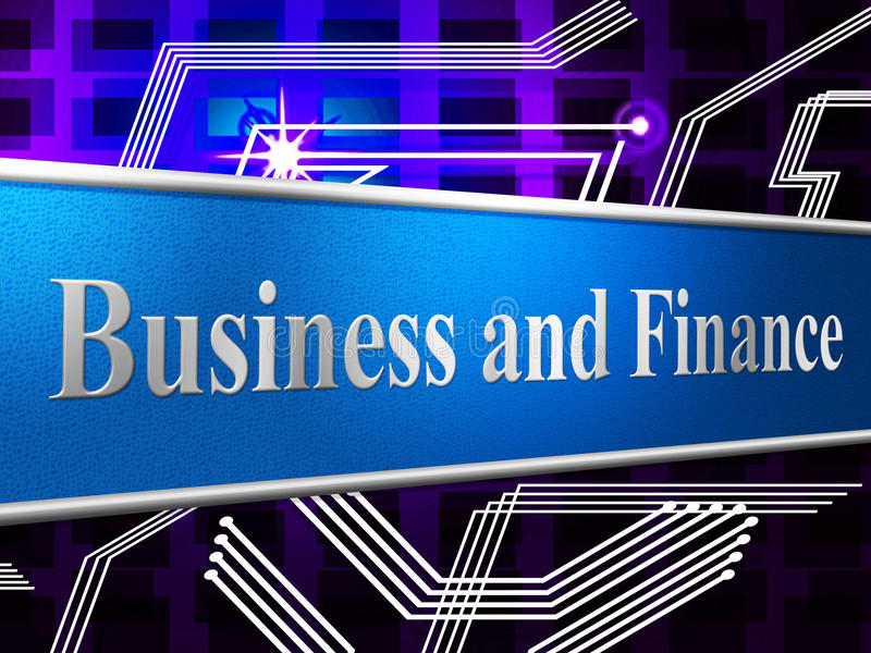 Finance Business Shows Figures Investment And Commerce vector illustration