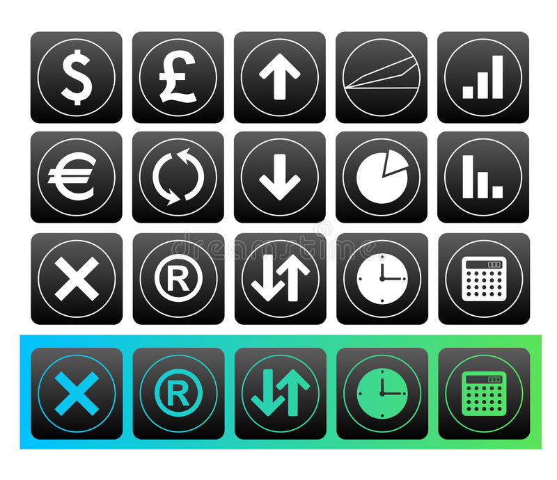 Finance button royalty free illustration
