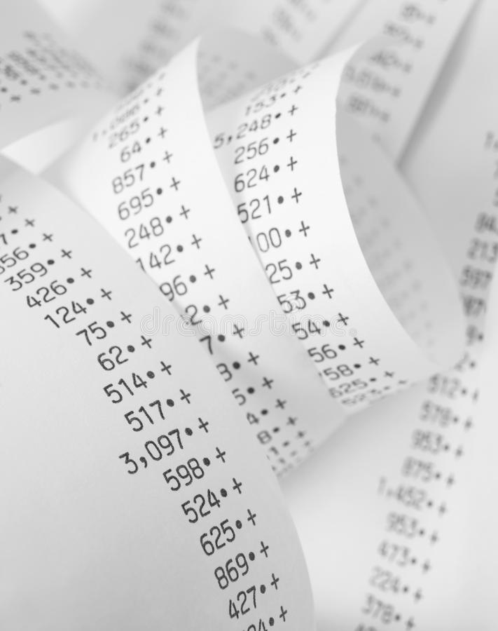 Finance calculations royalty free stock image
