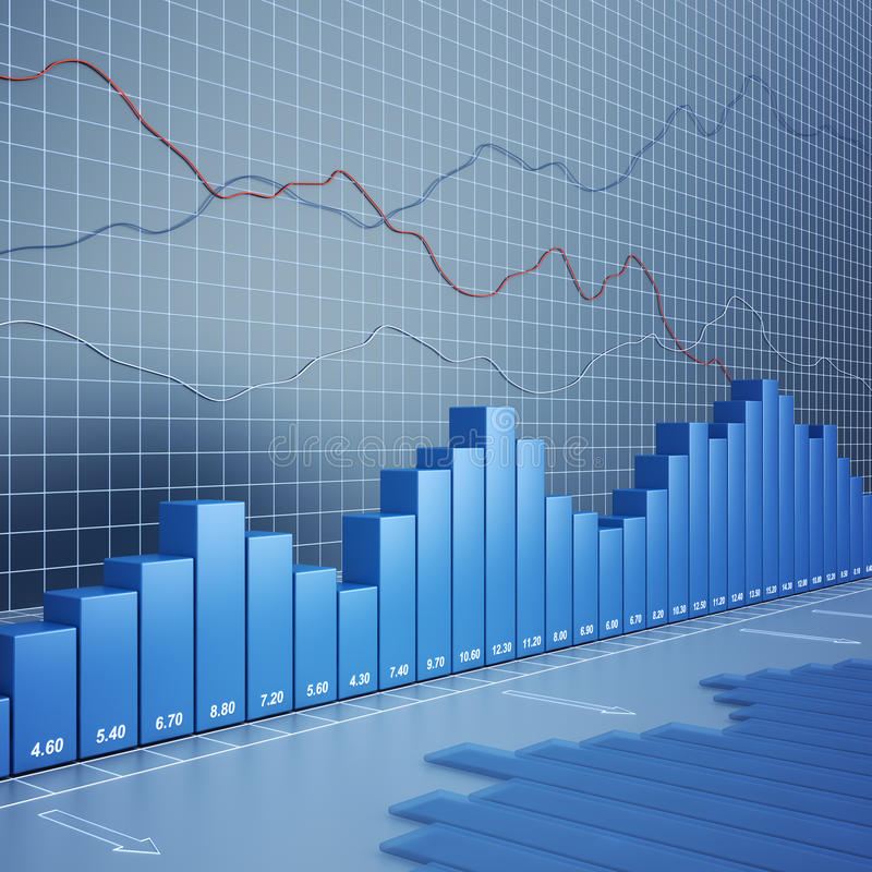 Finance chart. High quality 3d render royalty free illustration