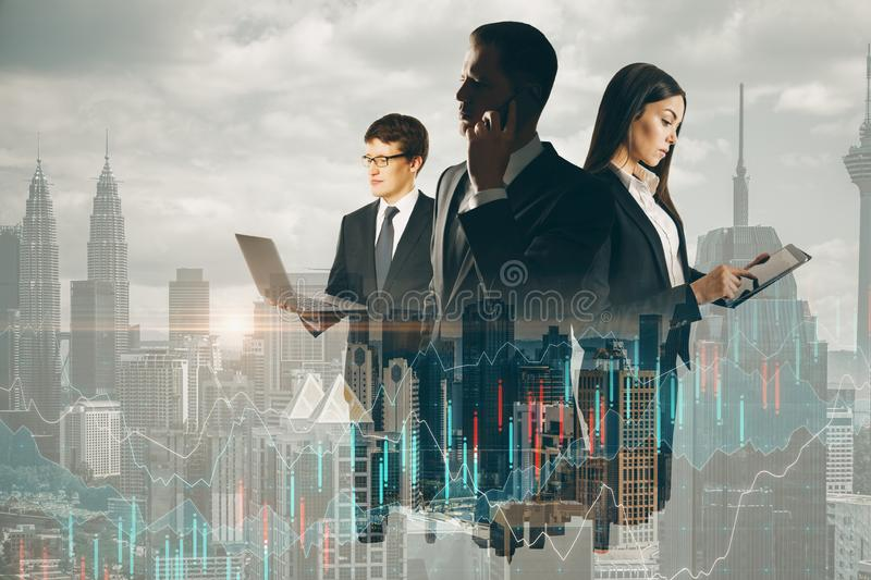 Finance and communication concept stock image