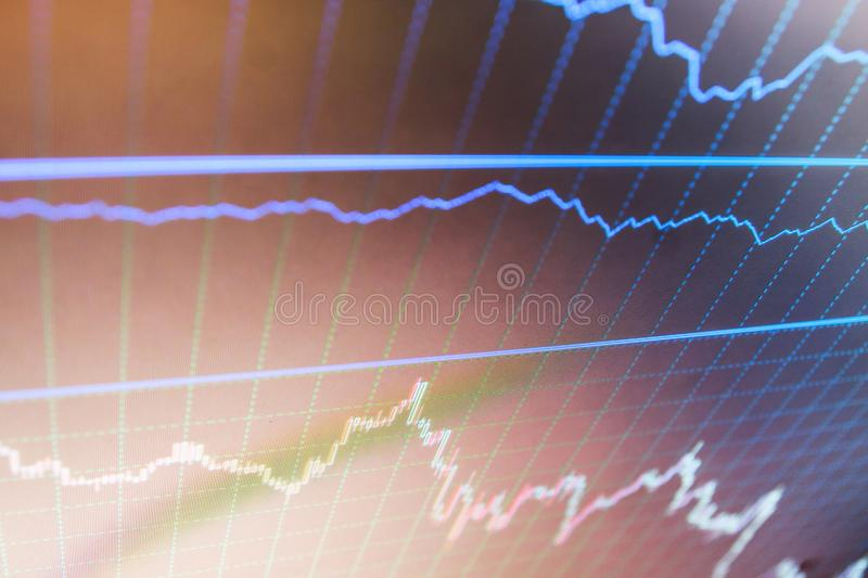 Finance concept. Candle stick graph chart of stock market investment trading. stock photos