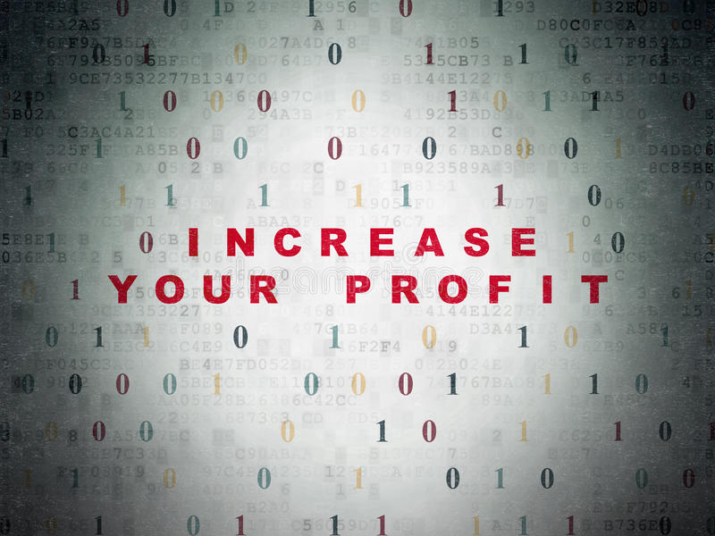 Finance concept: Increase Your profit on digital royalty free stock photography