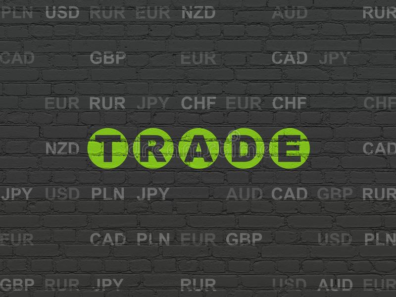 Finance concept: Trade on wall background vector illustration