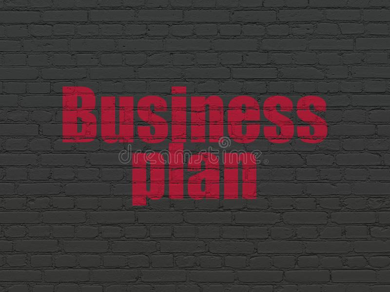Finance concept: Business Plan on wall background stock image
