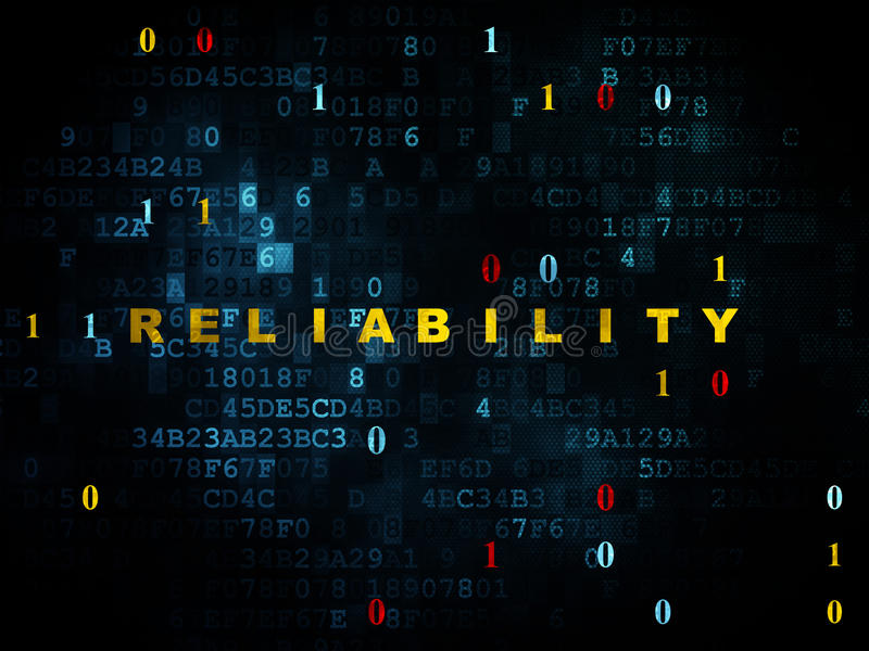 Finance concept: Reliability on Digital background royalty free illustration