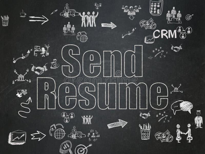 Finance concept: Send Resume on School Board stock illustration