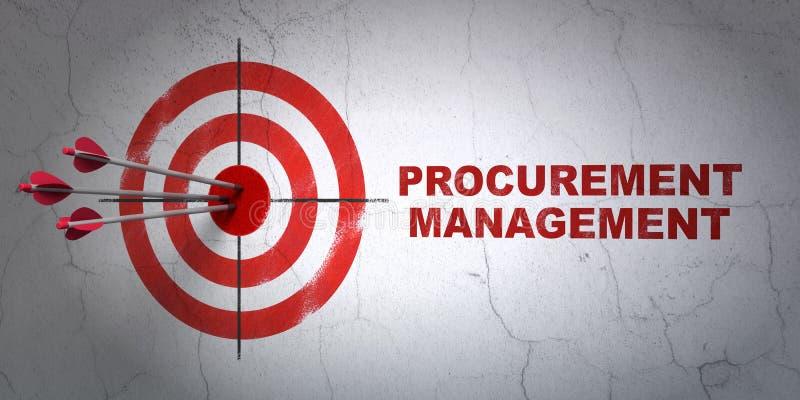 Finance concept: target and Procurement Management stock photo