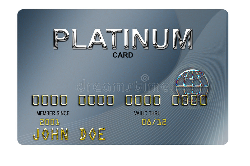 Finance Credit Card royalty free illustration