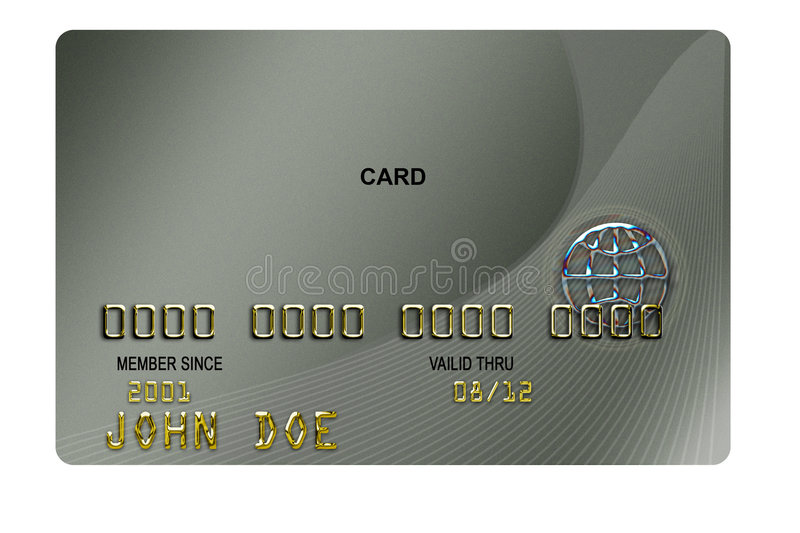Finance Credit Card. A BLANK typical plastic credit card with expiration date royalty free illustration