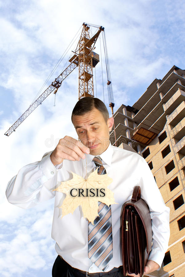 Finance crisis in construction royalty free stock images