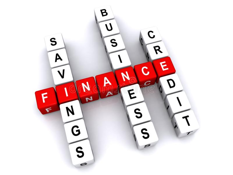 Finance crossword puzzle stock illustration