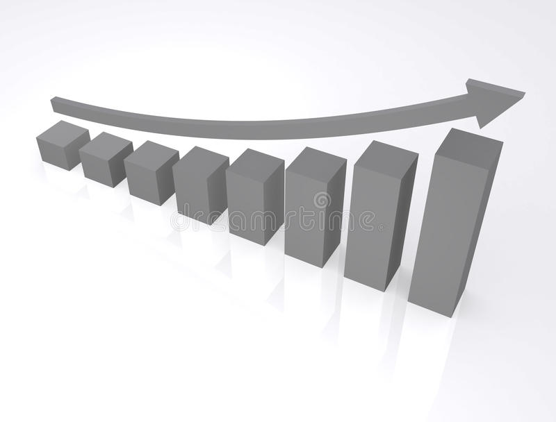 Finance. 3d graphic.a gray color can change by image editer software stock illustration