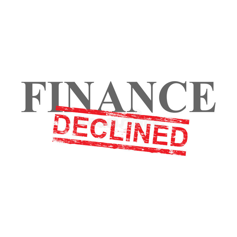 Finance Declined Word Stamp royalty free illustration
