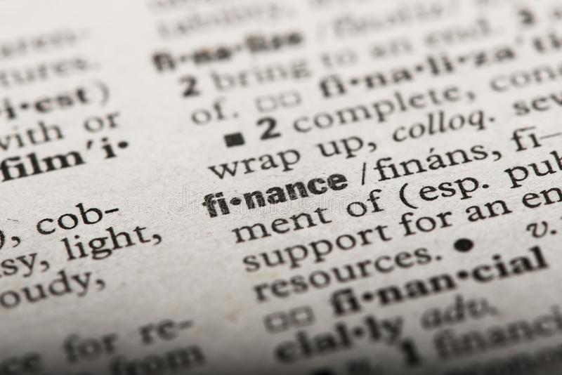 `Finance` in a Dictionary royalty free stock photo
